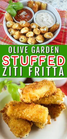 Olive Garden is clearly one of my favorite restaurants and this Stuffed Ziti Fritta is my favorite appetizer! Cheese filled noodles fried and dipped in alfredo Best Appetizers, Appetizer Recipes, Salad Recipes, Dinner Recipes, Pasta Recipes, Egg Free Desserts, Vegetarian Recipes, Cooking Recipes, Healty Dinner