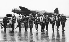 Flt/Lt Hopgood, seventh from left, was described by Guy Gibson as the best pilot on 617 sq...