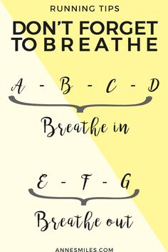 Running tips: Don't forget to breathe || Quick tips that will help you improve your breathing and run longer. Click through to read more, or repin to save for later!