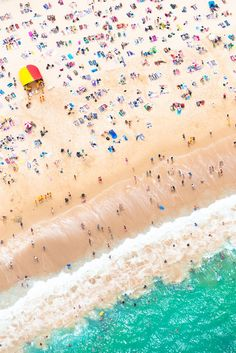 Bird's eye view of Bondi, Sydney. Spending the day at the beach? Here's the list for The Best Beachfront Bars in Sydney