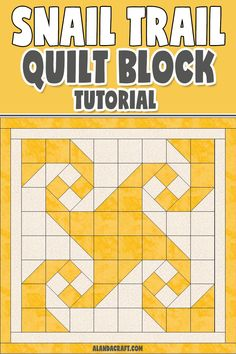 Learn how to sew the Snail Trail Quilt Block. Full step-by-step video and written instructions. This quilt block tutorial makes it easy. Quilting For Beginners, Quilting Tips, Quilting Tutorials, Quilting Projects, Quilting Designs, Star Quilt Blocks, Quilt Block Patterns, Pattern Blocks, Block Quilt