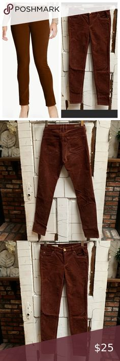 """Kut from the Kloth Diana skinny corduroy pants Kut from the Kloth Diana skinny corduroy pants size 2.  Good condition.  Measures 31"""" long, Rise 8"""" and waist 13 1/2"""" flat across.  Beautiful rich brown soft cords Kut from the Kloth Pants & Jumpsuits Skinny"""