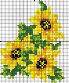 Ideas embroidery sunflower cross stitch charts for 2019 Cross Stitch Rose, Cross Stitch Borders, Cross Stitch Flowers, Cross Stitch Charts, Cross Stitch Designs, Cross Stitching, Cross Stitch Embroidery, Cross Stitch Patterns, Loom Patterns
