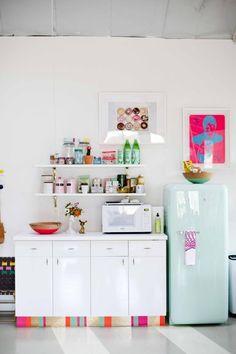 Joy Cho's Grown-Up Candyland Kitchenette — #Kitchen #Tour