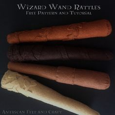 Looking for the perfect project for an expecting Harry Potter fan or you're just looking for a DIY baby toy even a muggle could love. Skip the trip to Ollivanders' and head to The Blog for soft wizard wand rattles. Harry Potter Felt, Felt Crafts, Diy Crafts, Wizard Wand, Diy Wand, Felting Tutorials, Felt Patterns, Baby Rattle, Felt Toys