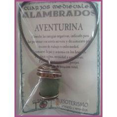 COLGANTE MEDIEVAL ALAMBRADO Aventurina Verde