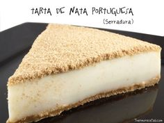Tarta de nata portuguesa Easy Desserts, Dessert Recipes, Desserts With Biscuits, Dessert Bread, Cheesecake Recipes, Love Food, Sweet Recipes, Sweet Treats, Yummy Food