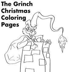 grinch christmas printable coloring pages - Printing Colouring Pages