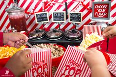 DIY popcorn bar insp