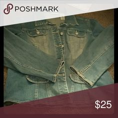 Jean Jacket Beautiful jacket with buttons which have amazing detail there are no pockets Jackets & Coats Jean Jackets