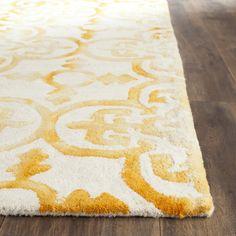 Safavieh Dip Dye Ivory & Gold Area Rug | AllModern