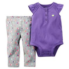 2-Piece Bodysuit & Pant Set --- size 3 mo