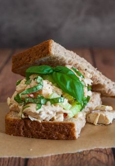 Lemon Basil Chicken Salad from @Angie McGowan (Eclectic Recipes)