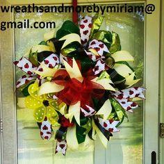 Ladybug love wreath