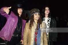 American band 4 Non Blondes posed at the Billboard Music Awards in December Left to right: Roger Rocha, Linda Perry and Dawn Richardson. Get premium, high resolution news photos at Getty Images For Non Blondes, Billboard Music Awards, Poses, American, Coat, Image, Fashion, Sewing Coat, Moda