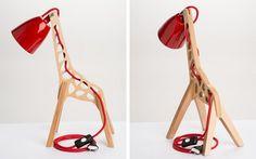 Lampe design en bois en forme de girafe - #Design - Visit the website to see all photos http://www.arkko.fr/lampe-design-bois-forme-girafe/