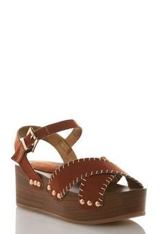 ce046019cb6d Cato Fashions Stitched Strap Flatform Wedges  CatoFashions Wedges