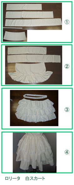 Tiered skirt (lining)
