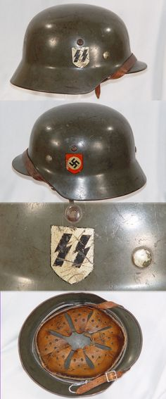 Waffen‑SS M‑35 D D Helmet Re-pinned by www.historysimulation.com