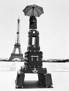 Louis Vuitton Monogram Luggage Eiffel Tower