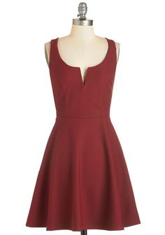 Shared Laughter Dress in Red. Whether date night means donning this flared red dress to take on the night with your bestie or your sweetie, youre bound to have a blast. #gold #prom #modcloth