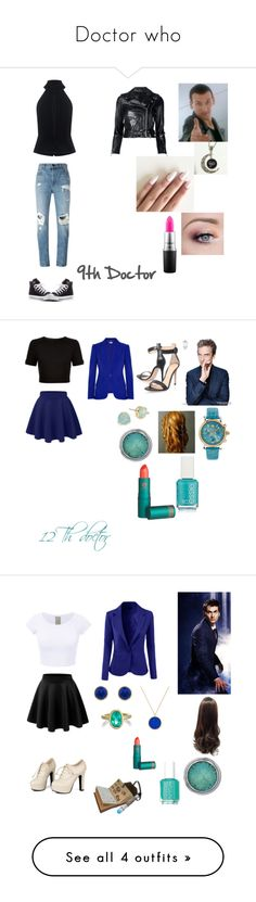 """""""Doctor who"""" by emma0502 on Polyvore featuring C/MEO COLLECTIVE, R13, Alexander Wang, Converse, MAC Cosmetics, sonic, Alexander McQueen, Ted Baker, Gianvito Rossi and Versace"""