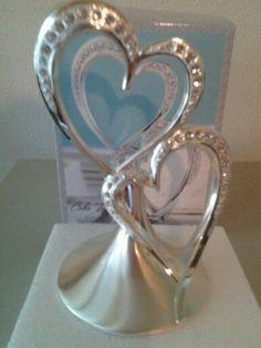 double heart cake topper...