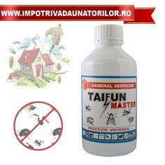 Insecticid universal Taifun eficient pentru combaterea insectelor precum muste,tantari,plosnite,gandaci.Ideal pentru uz casnic si uz industrial.