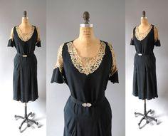 r e s e r v e d 1930s Dress / Silk Theater by wildfellhallvintage, $258.00