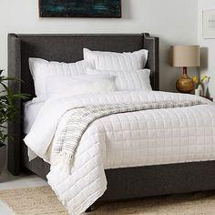 Roger Upholstered Bed #westelm