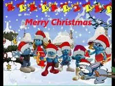 Smurfs  Jingle Bells, Christmas songs, canciones navidad, Weihnachten