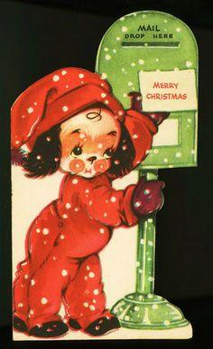 Cute Puppy Christmas Card