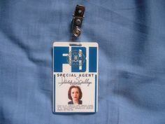 An authentic property of Dana Scully's FBI hanging identity.