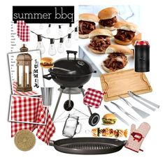 """Summer BBQ"" by bryanmiranda02 on Polyvore featuring interior, interiors, interior design, hogar, home decor, interior decorating, Crate and Barrel, Frontgate, Emile Henry y Anne Sisteron"
