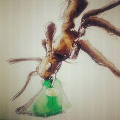 Untitled/insertar título #garudoz #illustration #ilustracion #hormiga #dinero #robo #ant #draw #drawing #dibujo by garudoz