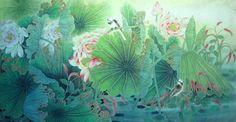 Lotus,66cm x 130cm(26〃 x 51〃),2011005-z