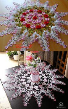 Crochet Table Runner Pattern, Crochet Doily Patterns, Crochet Art, Macrame Patterns, Crochet Squares, Crochet Home, Crochet Motif, Vintage Crochet, Crochet Designs