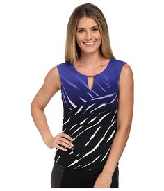 Calvin Klein Calvin Klein  Sleeve Top w Bar Hardware ByzantineBlack Womens Clothing for 35.99 at Im in! #sale #fashion #I'mIn