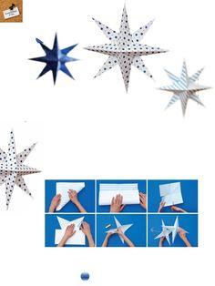 Make a paper star. Family Fun magazine.