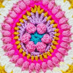 Easter Egg Mandala | Free Crochet Pattern - Get ready for Easter with this colourful vibrant Easter Egg mandala - this week's free mandala crochet pattern