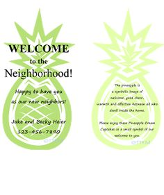 A welcome gift for our new neighbors