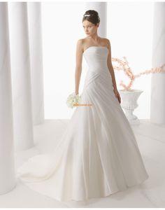 Sommar Ärmlös Snöra upp Bröllopsklänningar 2014