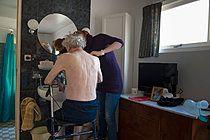 p896m836012, Alter, Ältere Menschen, Erwachsener, Grippe, Medizin, Schlafzimmer, Zuhause