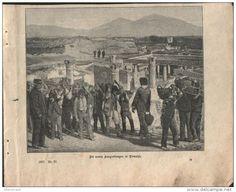 """Die neuen Ausgrabungen in Pompeji  - Druck, ausgeschnitten   aus """"die…"""