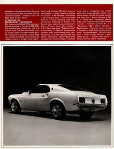 Ford Mustang 1965, Ford Mustang Shelby Cobra, Ford Mustang Fastback, Mustang Boss, Ford Shelby, My Dream Car, Dream Cars, 70s Muscle Cars, Car Brochure