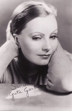 Greta Garbo signed photo...