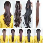 Long Layered Ponytail Clip-On Hair Piece Extension wrap around & claw Pony tail