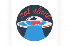 Color vintage space emblem by Netkoff on @creativemarket