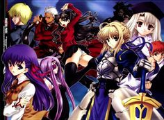 Fate/stay night, Sakura Matou, Archer (Fate/Stay Night), Illyasviel von Einzbern, Saber