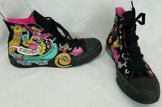 CONVERSE allstar black Love My Chucks Skateboarding bright art mens 6 womens 8 #Converse #CasualShoes